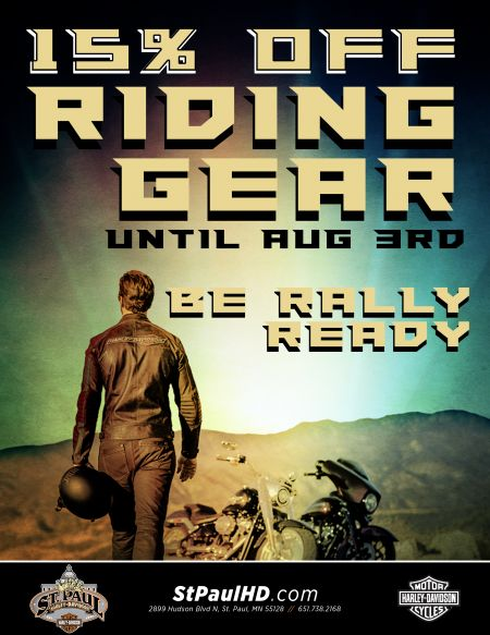 15% orr riding gear for a limited time