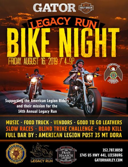 Legacy Run Bike Night