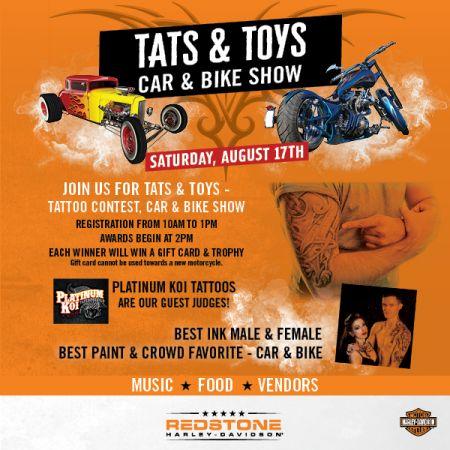 TATS & TOYS TATTOO CONTEST - CAR & BIKE SHOW!