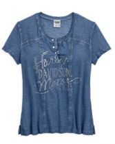 TEE-HENLEY,WASHED,BLU