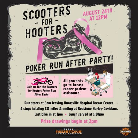 SCOOTERS FOR HOOTERS POKER RUN AFTER PARTY