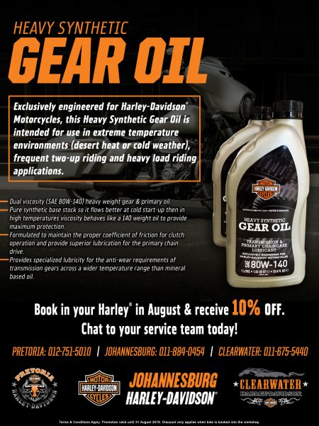 Harley-Davidson® Heavy Synthetic Gear Oil - Promotion