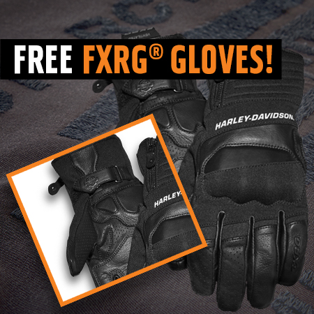 HARLEY-DAVIDSON® FXRG® GLOVES OFFER