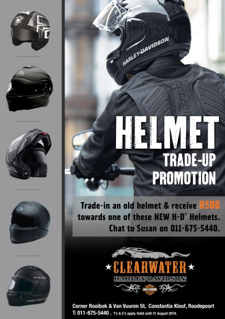 Helmet Trade-in and Trade-up Clearwater Harley Promotion