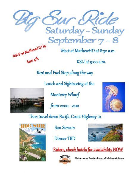 Big Sur Overnight Ride