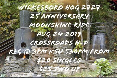 Wikesboro HOG's 25th Anniversary Moonshine Ride