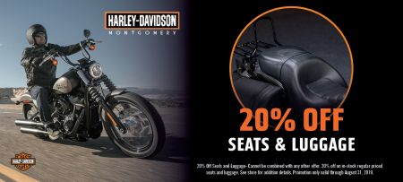20% Off Seats and Luggage.