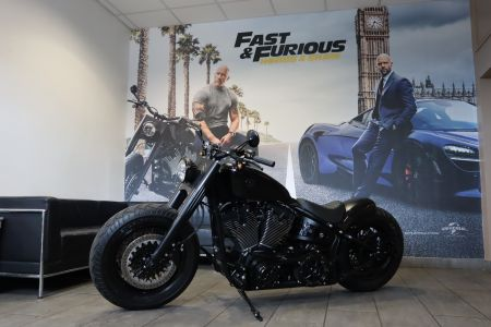 Custom Fatboy Features in Hobbs & Shaw