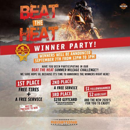 BEAT THE HEAT WINNER PARTY