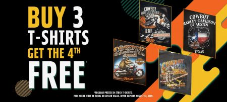 Buy 3 T-Shirts, Get the 4th Free!