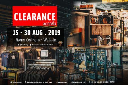 CLEARANCE 15-30 AUG. 2019