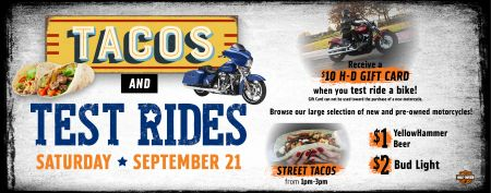 Tacos and Test Rides!