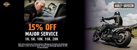 15% Off Major Service (1k,5k,10k,15k,20k)