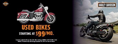 Used Bikes Starting at $99/Mo