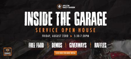 Inside the Garage  |  Appleton H-D Service Open House