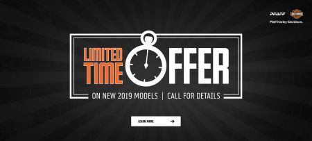 LIMITED TIME OFFER ON 2019 MODELS