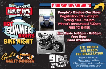 Bike Night 6pm-8pm