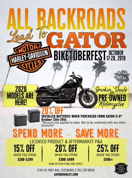 All Backroads Lead to Gator | Biketoberfest 2019