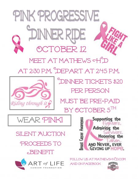 LOH Pink Progressive Dinner Ride