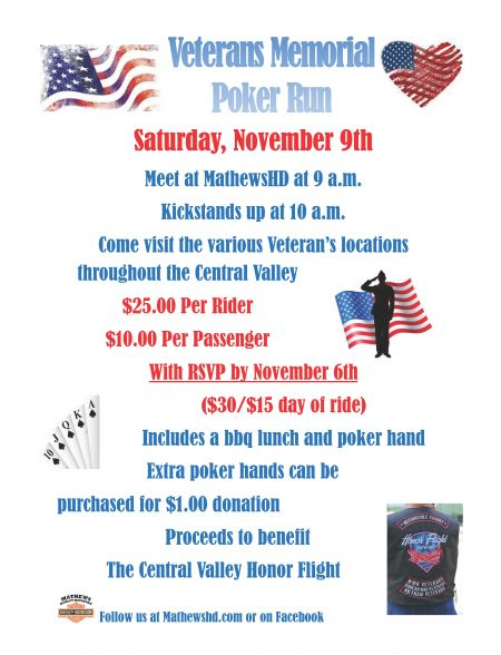 Veterans Memorial Ride