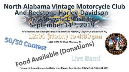 NAVMC Cruise-In at Redstone Harley-Davidson