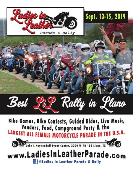 Ladies in Leather Parade & Rally in Llano