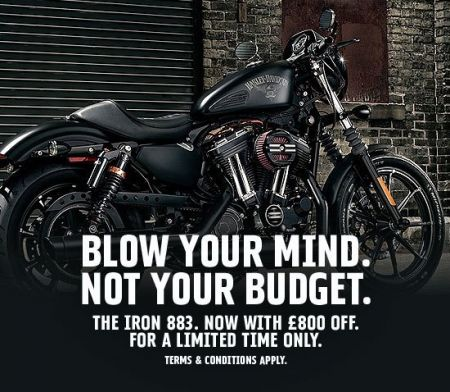 Blow Your Mind Not Your Budget £800 Off The IRON 883™