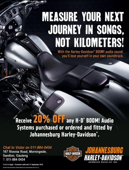 20% OFF - BOOM! Audio Sound Systems - Johannesburg Harley-Davidson