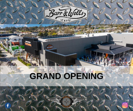 Barr & Wells Motor Cafe Grand Opening