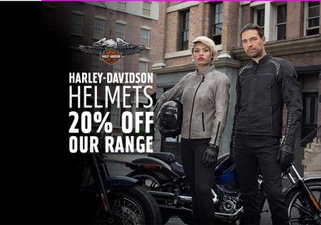 20% Off Harley-Davidson Helmets!