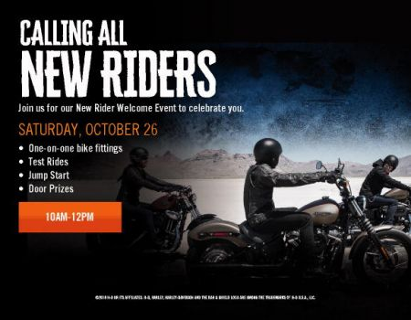 New Rider Welcome Event