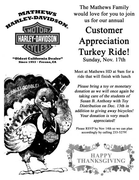 Mathews HD Customer Appreciation Ride