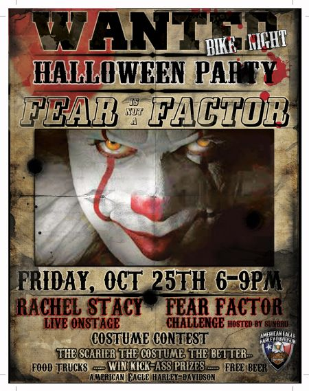 Fear Is Not A Factor Halloween Party Bike Night