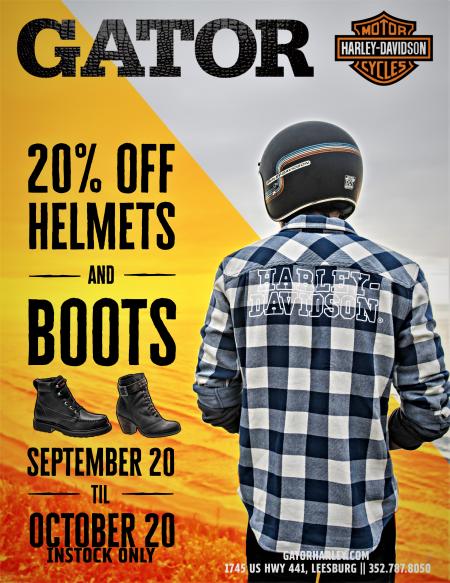 Boot & Helmet Sale