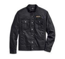 Flaming Skull Patch Denim Shirt Jacket