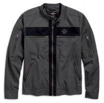 Men's Exposed Zipper Canvas Jacket