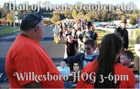 Trail of Treats on Yadkin River Greenway with the Wilkesboro HOG