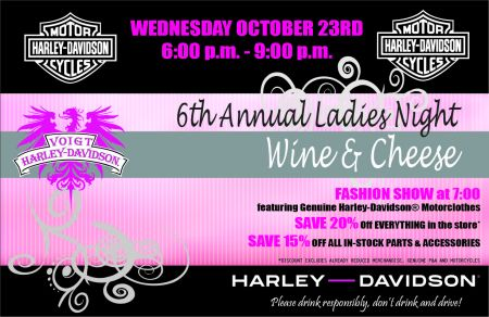 Ladies Night Wine & Cheese @ Voight Harley Davidson | Fort McMurray | Alberta | Canada
