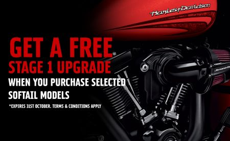 FREE STAGE 1 UPGRADE ON SELECTED SOFTAIL MODELS