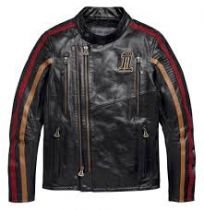 Harley-Davidson® Men's Arterial Slim Fit Leather Jacket
