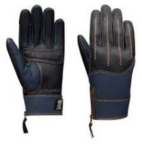 Harley-Davidson® Women's Arterial Leather & Denim Full-Finger Gloves
