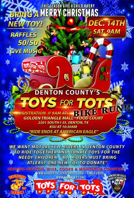 Denton County's TOYS For TOTS Bike Run
