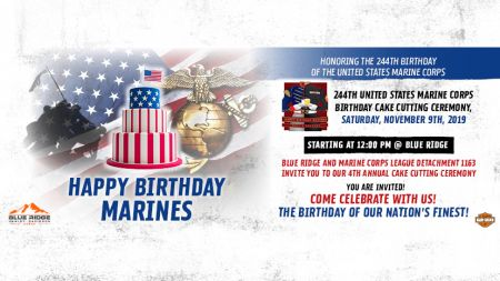 244th Marine Corps Birthday Cake Cutting