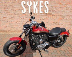 2020 Harley-Davidson XL1200C Sportster 1200 Custom in Billiard Red and Vivid Black