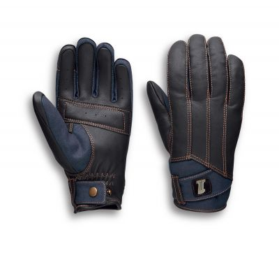 ARTERIAL DENIM/LEATHER GLOVES
