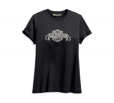 LADIES BANNER LOGO TEE