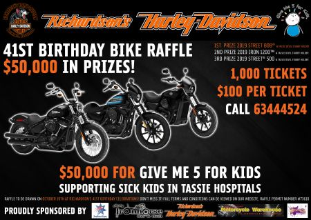 Richardson's Harley-Davidson 41st Birthday & Bike Raffle Draw