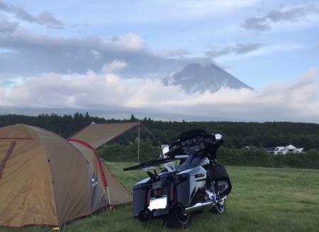 キャンプツーリングinふもとっぱらキャンプ場