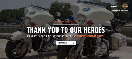 Double Rewards points for Military & First Responders