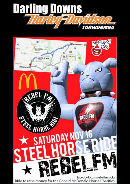 RebelFM Steel Horse Ride McHappy Day.